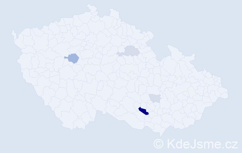 Příjmení: 'Fuňová', počet výskytů 14 v celé ČR