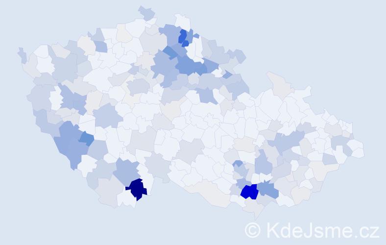 Příjmení: 'Lejsková', počet výskytů 596 v celé ČR