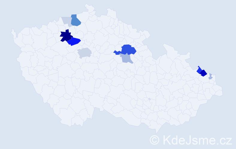 Příjmení: 'Joško', počet výskytů 43 v celé ČR