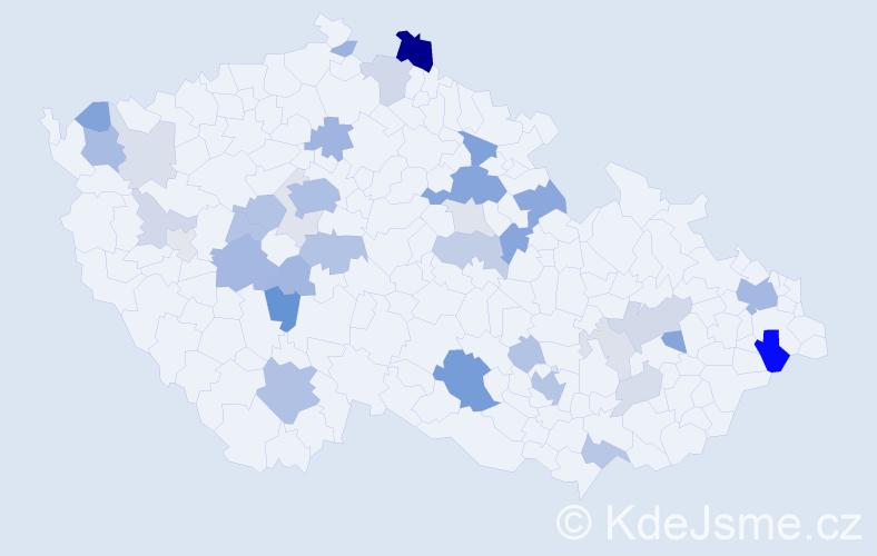 Příjmení: 'Labský', počet výskytů 113 v celé ČR