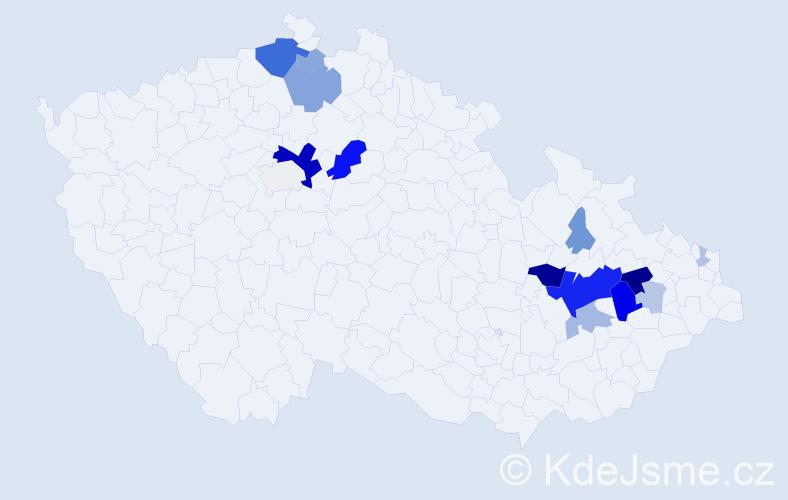 Příjmení: 'Krumpolec', počet výskytů 60 v celé ČR