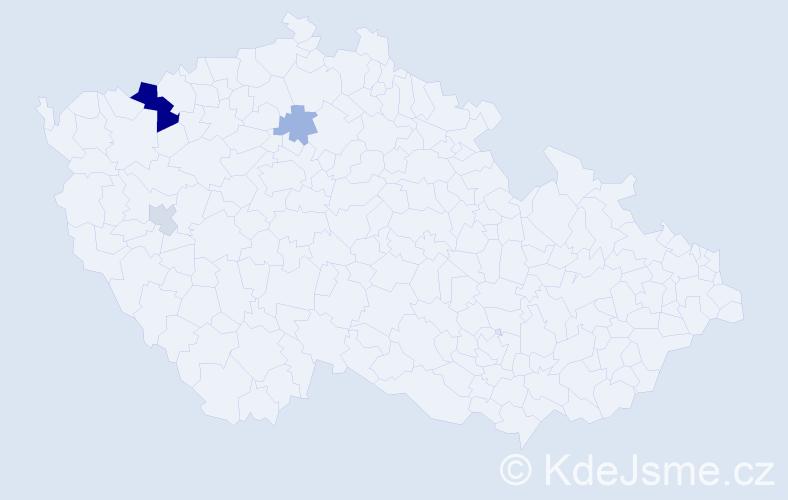Příjmení: 'Dobročani', počet výskytů 8 v celé ČR