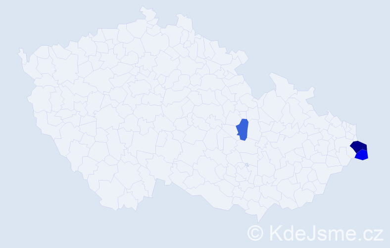 Příjmení: 'Kowol', počet výskytů 5 v celé ČR