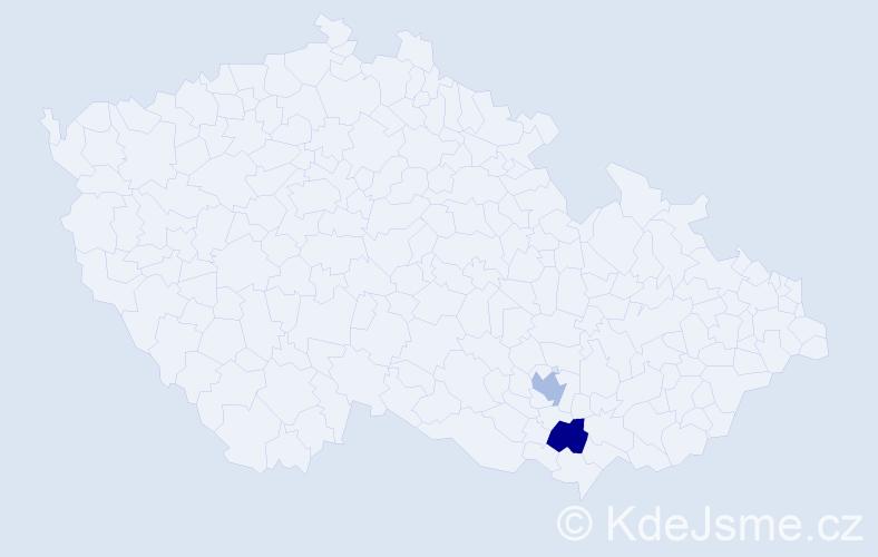 Příjmení: 'Istenes', počet výskytů 2 v celé ČR