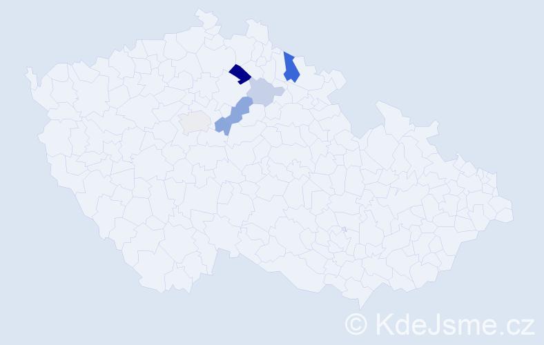 Příjmení: 'Erbrtová', počet výskytů 14 v celé ČR