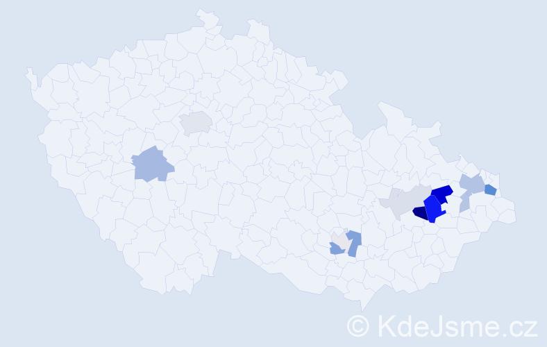 Příjmení: 'Enenkel', počet výskytů 35 v celé ČR