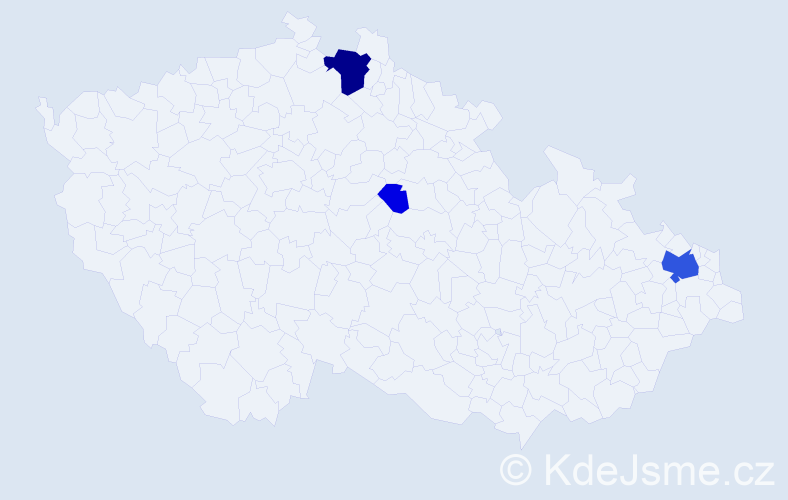 Příjmení: 'Giza', počet výskytů 12 v celé ČR