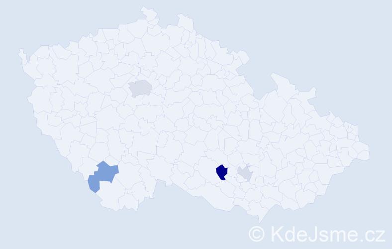 Příjmení: 'Harutjunjan', počet výskytů 15 v celé ČR