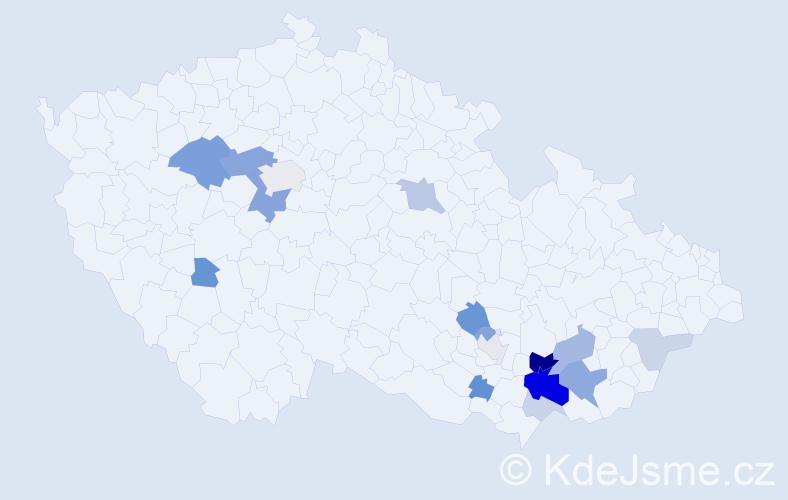 Příjmení: 'Santler', počet výskytů 40 v celé ČR