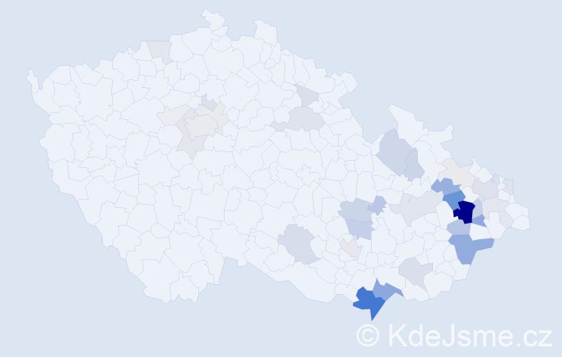 Příjmení: 'Jančálek', počet výskytů 160 v celé ČR