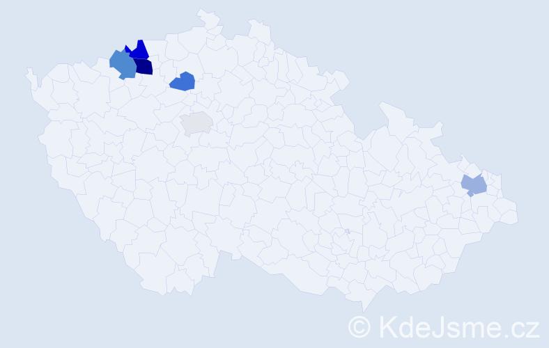 Příjmení: 'Ferianc', počet výskytů 12 v celé ČR