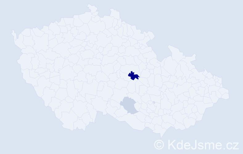 Příjmení: 'Číhák', počet výskytů 5 v celé ČR