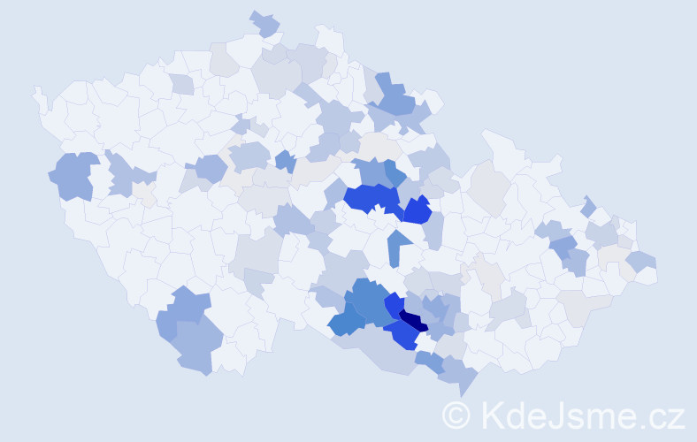 Příjmení: 'Binková', počet výskytů 331 v celé ČR