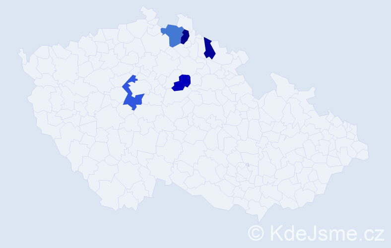 Příjmení: 'Englberth', počet výskytů 8 v celé ČR