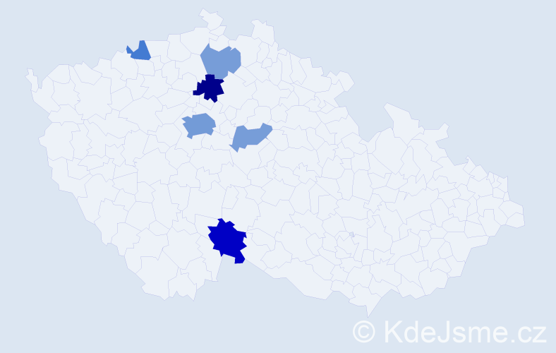 Příjmení: 'Gröschl', počet výskytů 17 v celé ČR