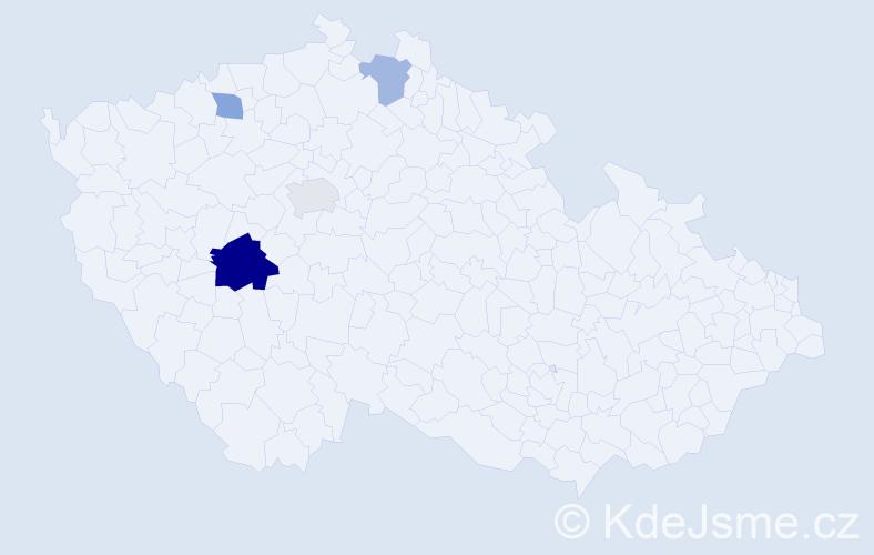 Příjmení: 'Fitzpatrick', počet výskytů 7 v celé ČR