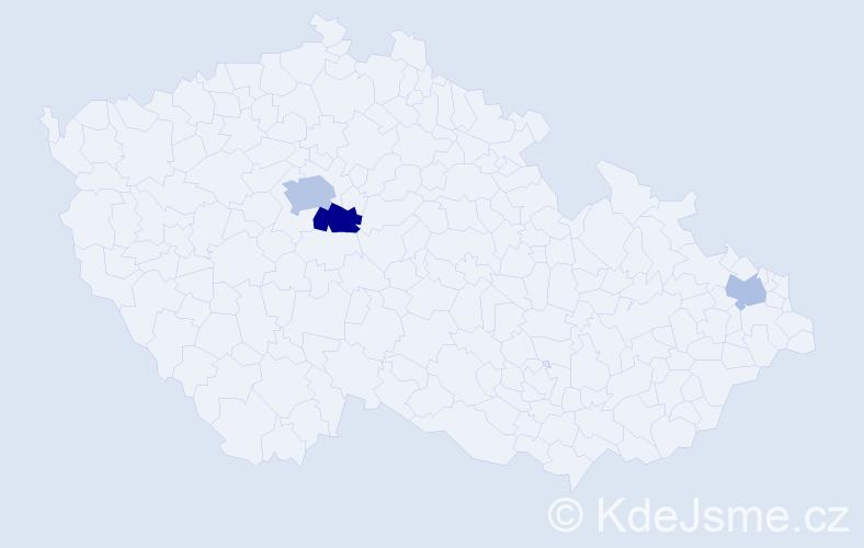 Příjmení: 'Abdou', počet výskytů 6 v celé ČR