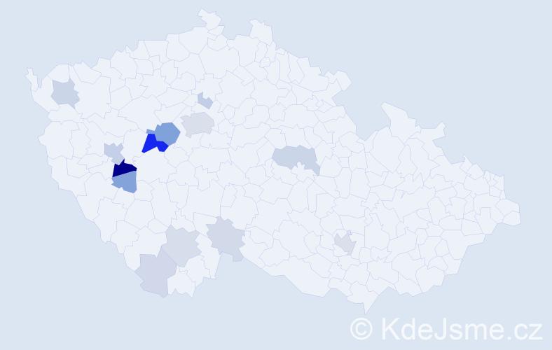Příjmení: 'Eismann', počet výskytů 45 v celé ČR