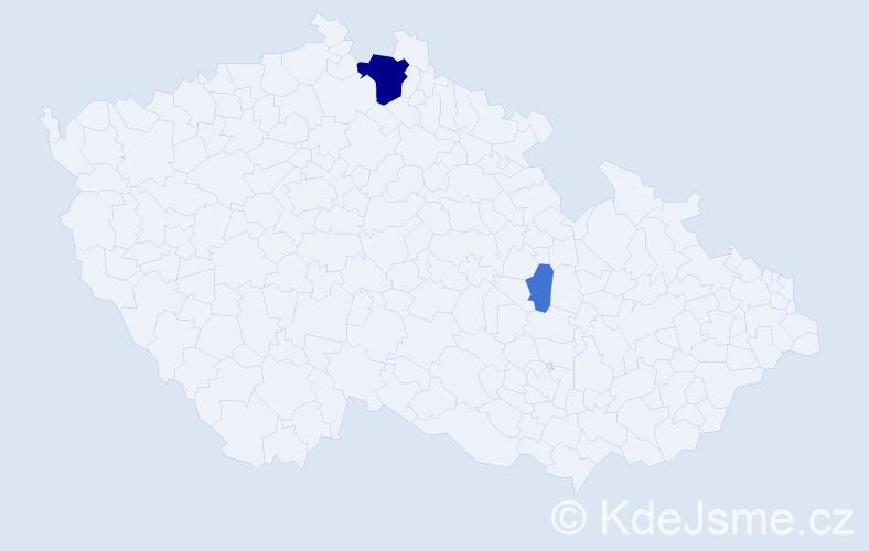 Příjmení: 'Futschik', počet výskytů 7 v celé ČR
