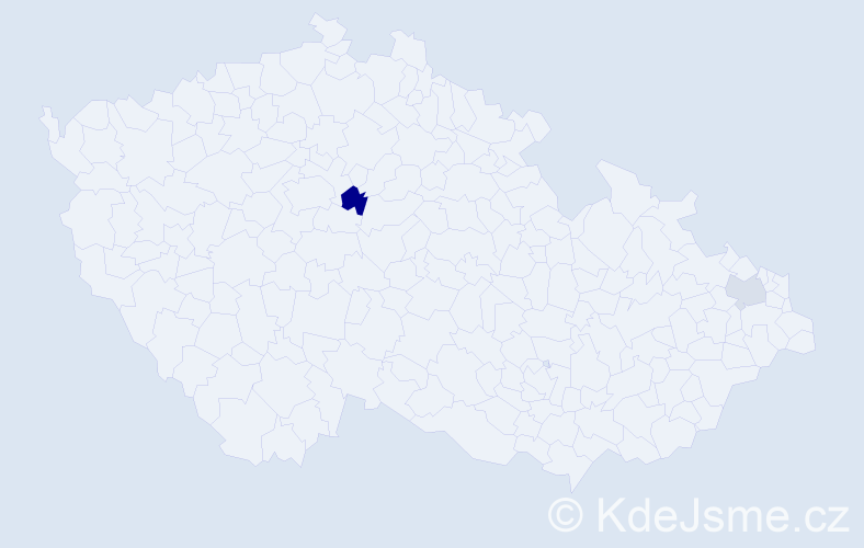 Příjmení: 'Galgocyová', počet výskytů 3 v celé ČR
