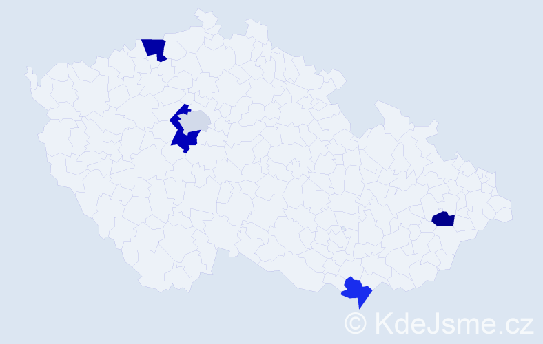 Příjmení: 'Klisáková', počet výskytů 7 v celé ČR