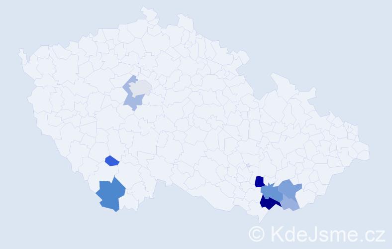 Příjmení: 'Jakúbek', počet výskytů 28 v celé ČR