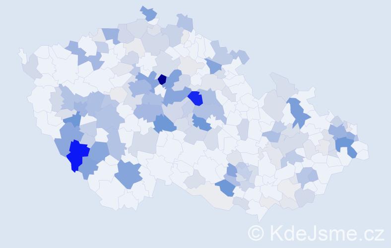 Příjmení: 'Jarolím', počet výskytů 660 v celé ČR