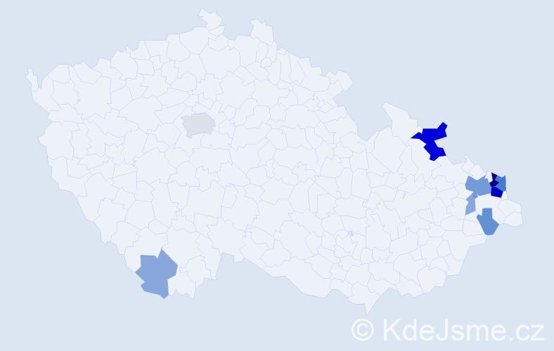 Příjmení: 'Gvuzd', počet výskytů 34 v celé ČR