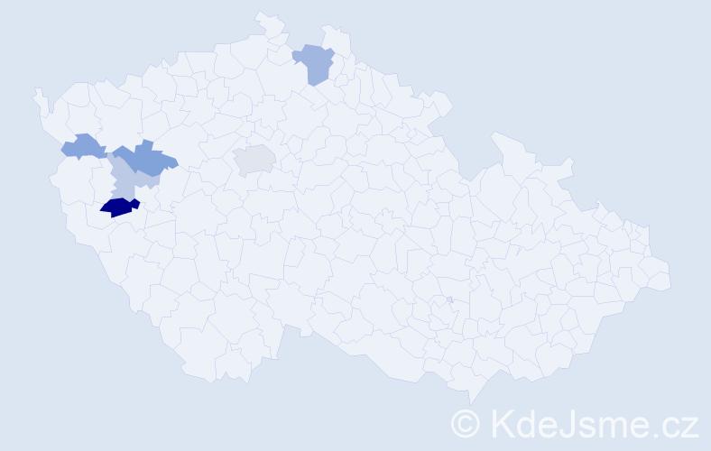 Příjmení: 'Impseilová', počet výskytů 14 v celé ČR