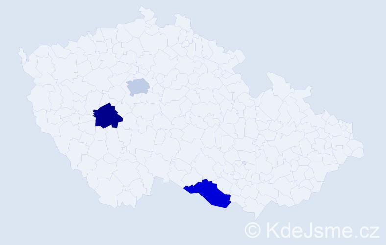 Příjmení: 'Čubirka', počet výskytů 3 v celé ČR