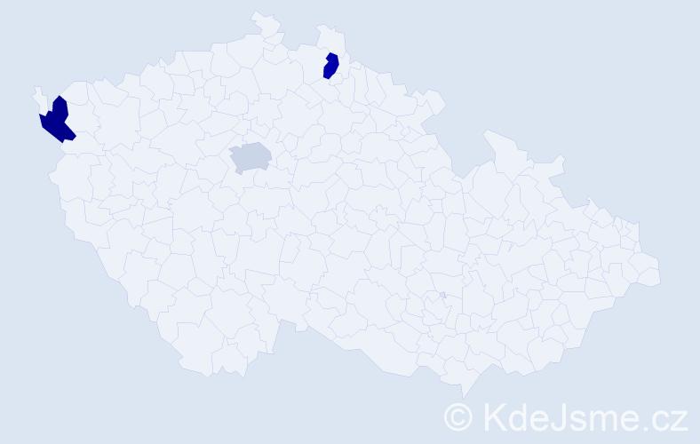 Příjmení: 'Illinger', počet výskytů 3 v celé ČR