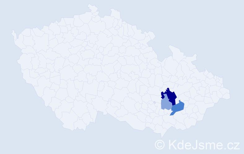 Příjmení: 'Gabrišáková', počet výskytů 11 v celé ČR