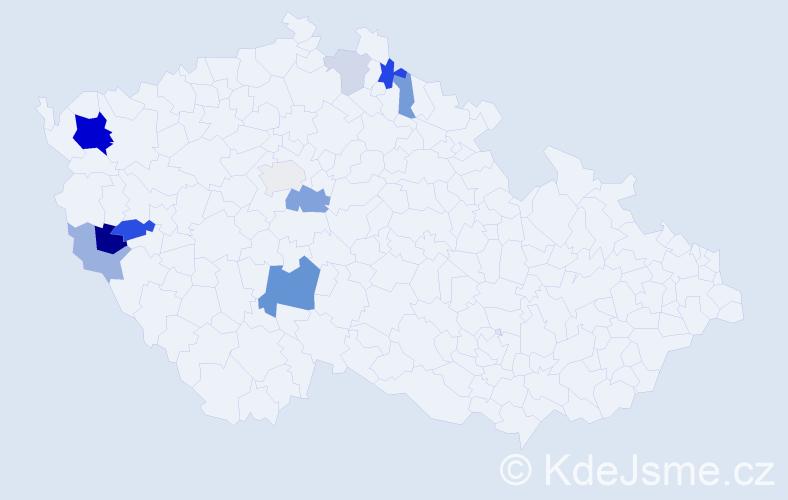 Příjmení: 'Echtner', počet výskytů 25 v celé ČR