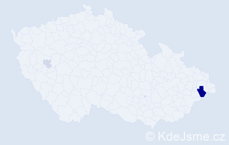 Příjmení: 'Gendron', počet výskytů 4 v celé ČR