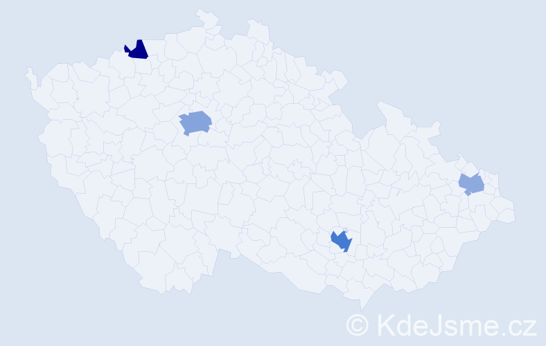 Příjmení: 'Joachim', počet výskytů 9 v celé ČR