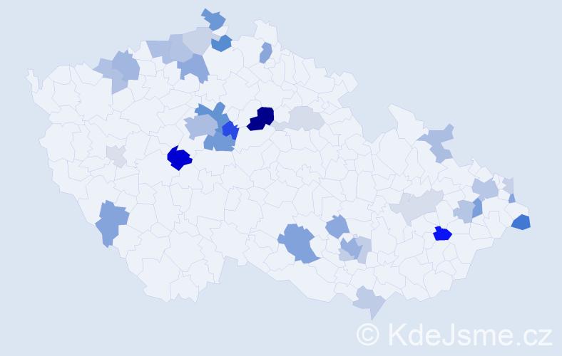 Příjmení: 'Khan', počet výskytů 81 v celé ČR