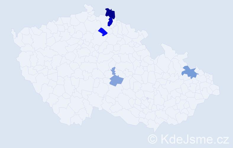 Příjmení: 'Koščák', počet výskytů 10 v celé ČR