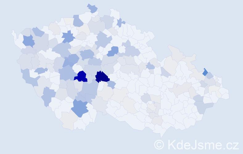 Příjmení: 'Jankovská', počet výskytů 538 v celé ČR