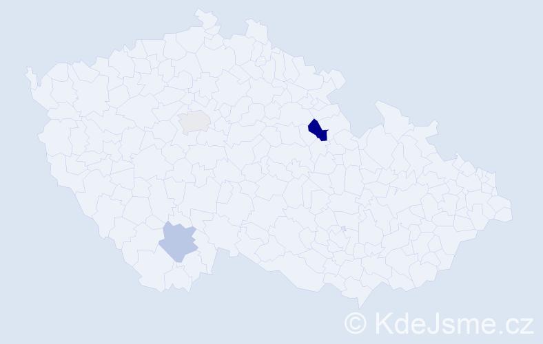 Příjmení: 'Füsi', počet výskytů 4 v celé ČR