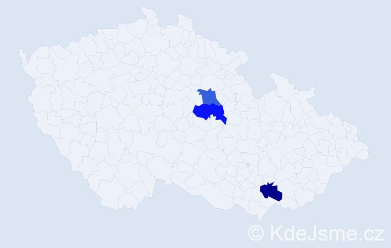 Příjmení: 'Čejgl', počet výskytů 6 v celé ČR