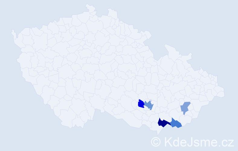 Příjmení: 'Cambal', počet výskytů 10 v celé ČR