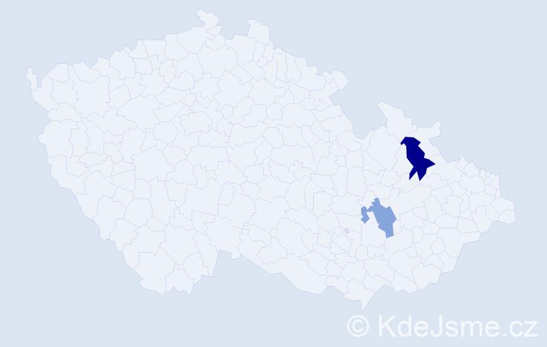 Příjmení: 'Labónek', počet výskytů 3 v celé ČR