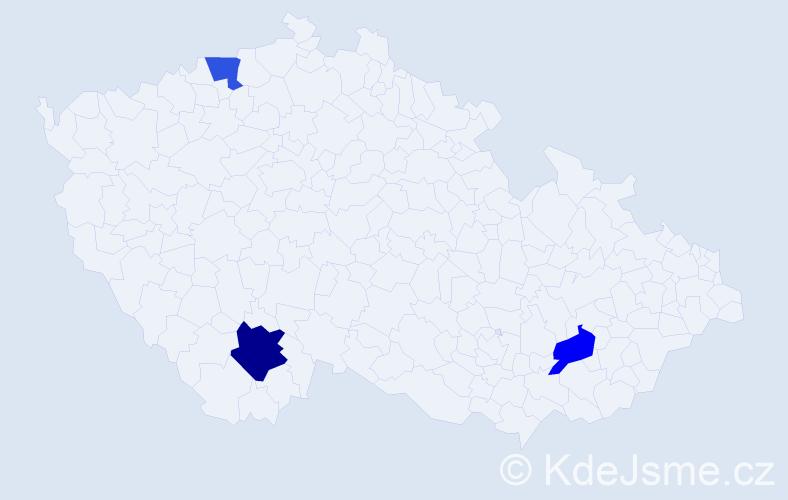 Příjmení: 'Kačányová', počet výskytů 4 v celé ČR