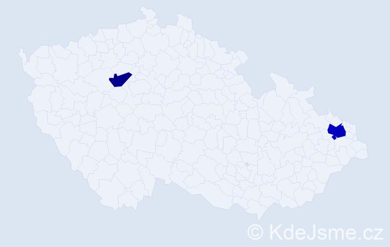 Příjmení: 'Jalandžiev', počet výskytů 3 v celé ČR