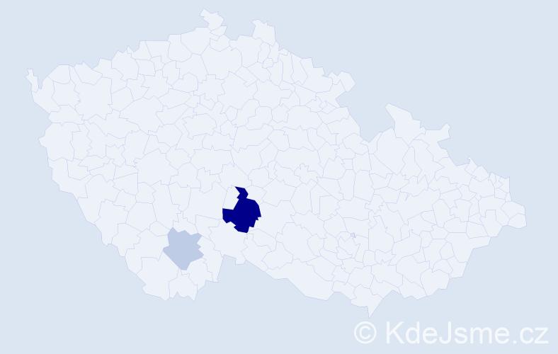 Příjmení: 'Gaupmannová', počet výskytů 5 v celé ČR