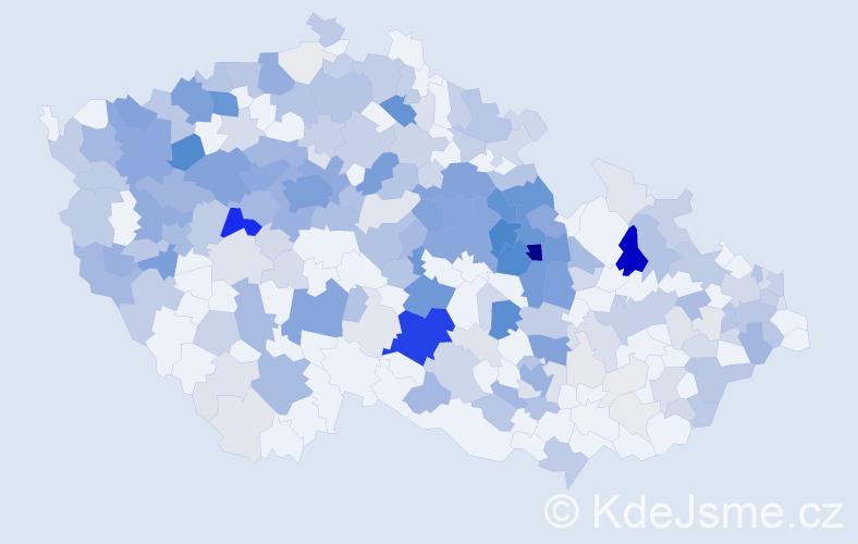 Příjmení: 'Horský', počet výskytů 932 v celé ČR