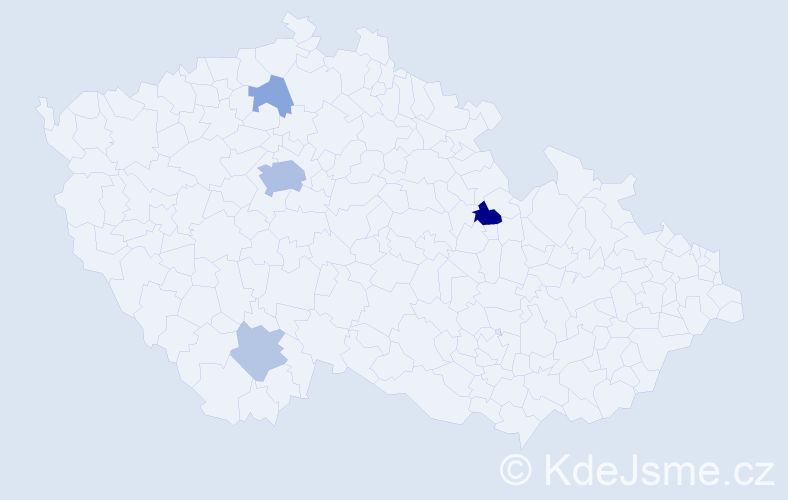 Příjmení: 'Boněk', počet výskytů 11 v celé ČR
