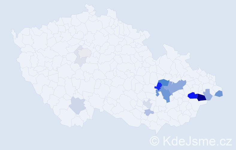 Příjmení: 'Křesala', počet výskytů 48 v celé ČR