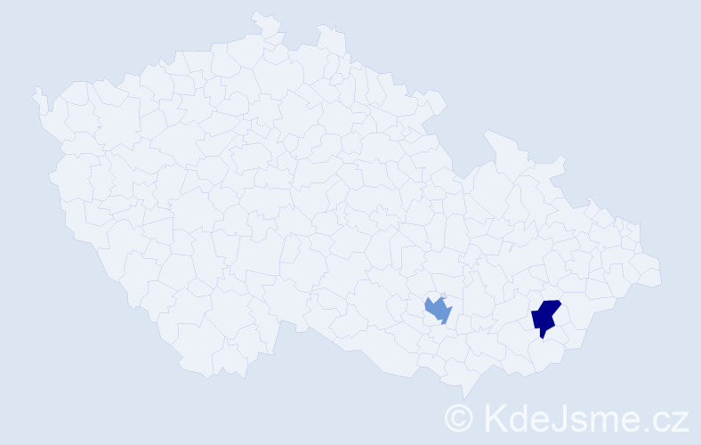 Příjmení: 'Bodejček', počet výskytů 4 v celé ČR