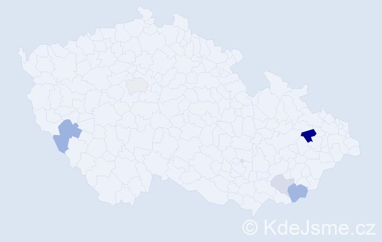Příjmení: 'Elkner', počet výskytů 11 v celé ČR